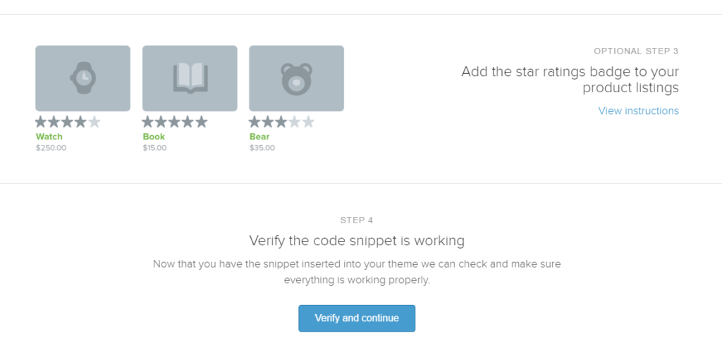 Shopify Star Ratings